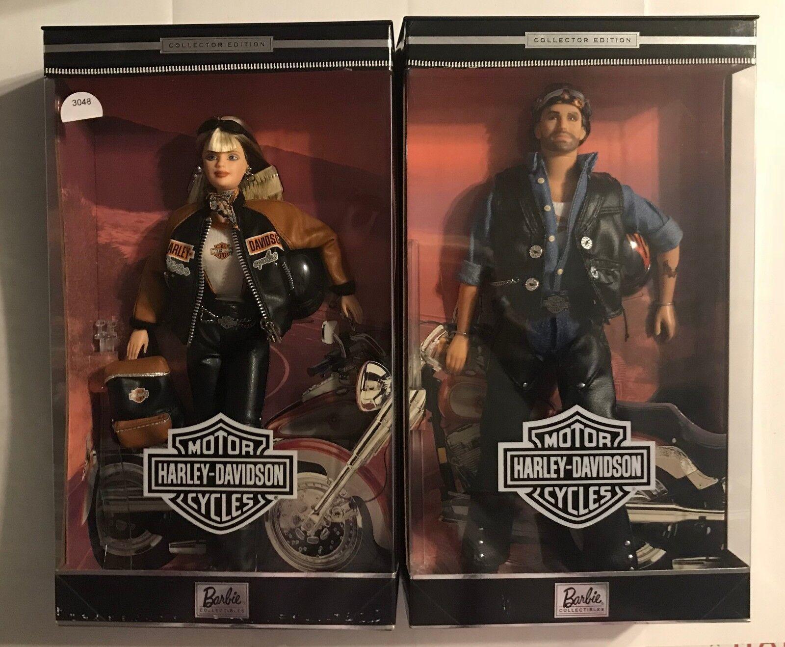 1999 Edición Coleccionista Harley-Davidson Barbie Y Ken Muñecas-Nuevo En Cajas De