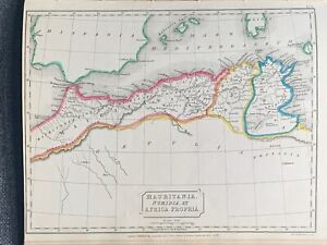 1829-ANCIENT-NORTH-AFRICA-HAND-COLOURED-ANTIQUE-MAP-BY-SIDNEY-HALL-191-YRS-OLD