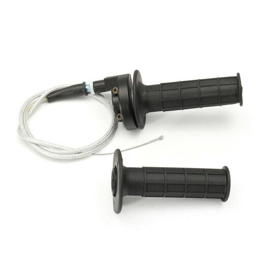 """Motorcycle 22mm 7//8/"""" Handlebar Hand Grips With Twist Throttle Cable Brake Lever"""