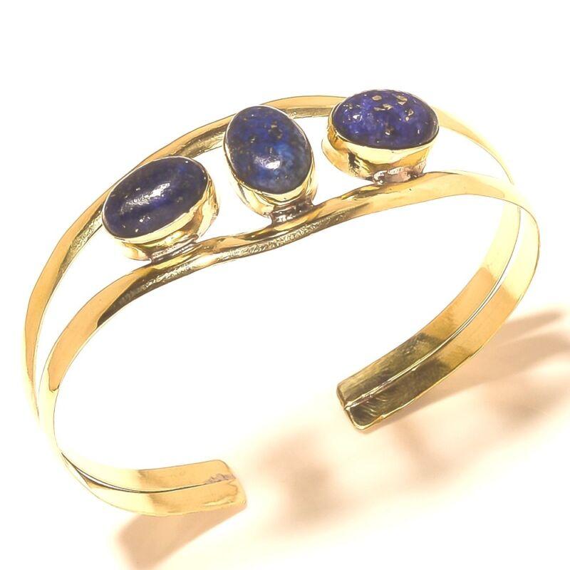 Lapis Lazuli Tibetan Silver Brass Bangel Jewelry