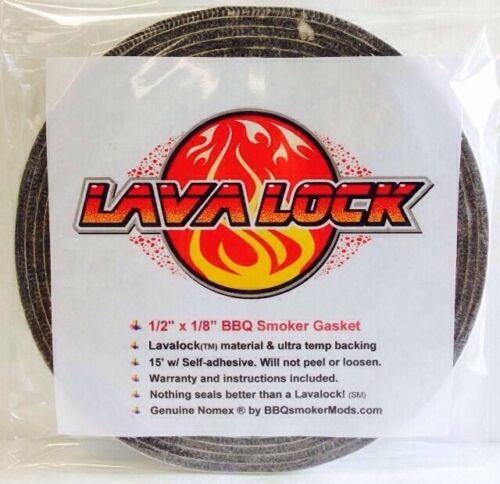 Grey Lavalock® Gasket High Temp BBQ Smoker Grill Nomex Self Stick 1//2 x 1//8 x 15