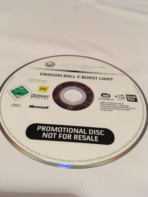 Dragon Ball Z Burst Limit promotionnel PROMO copie pour Xbox 360 Disque Seulement Ban Dai