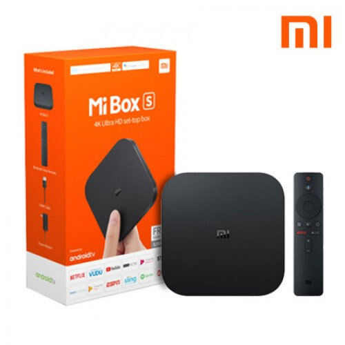 Xiaomi Mi Box S 4K HDR Android TV with Google Assistant Remote Streaming Player android assistant box google hdr player remote streaming with xiaomi
