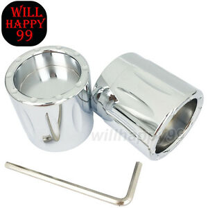 Chrome Edge Cut Front Axle Cap Nut Covers For Harley Electra Glide Fatboy 08-17