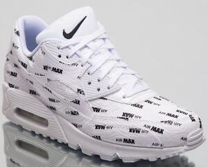 the best attitude 90f99 8641a Das Bild wird geladen Nike-Air-Max-90-Premium-Lifestyle-Schuhe-Weiss-