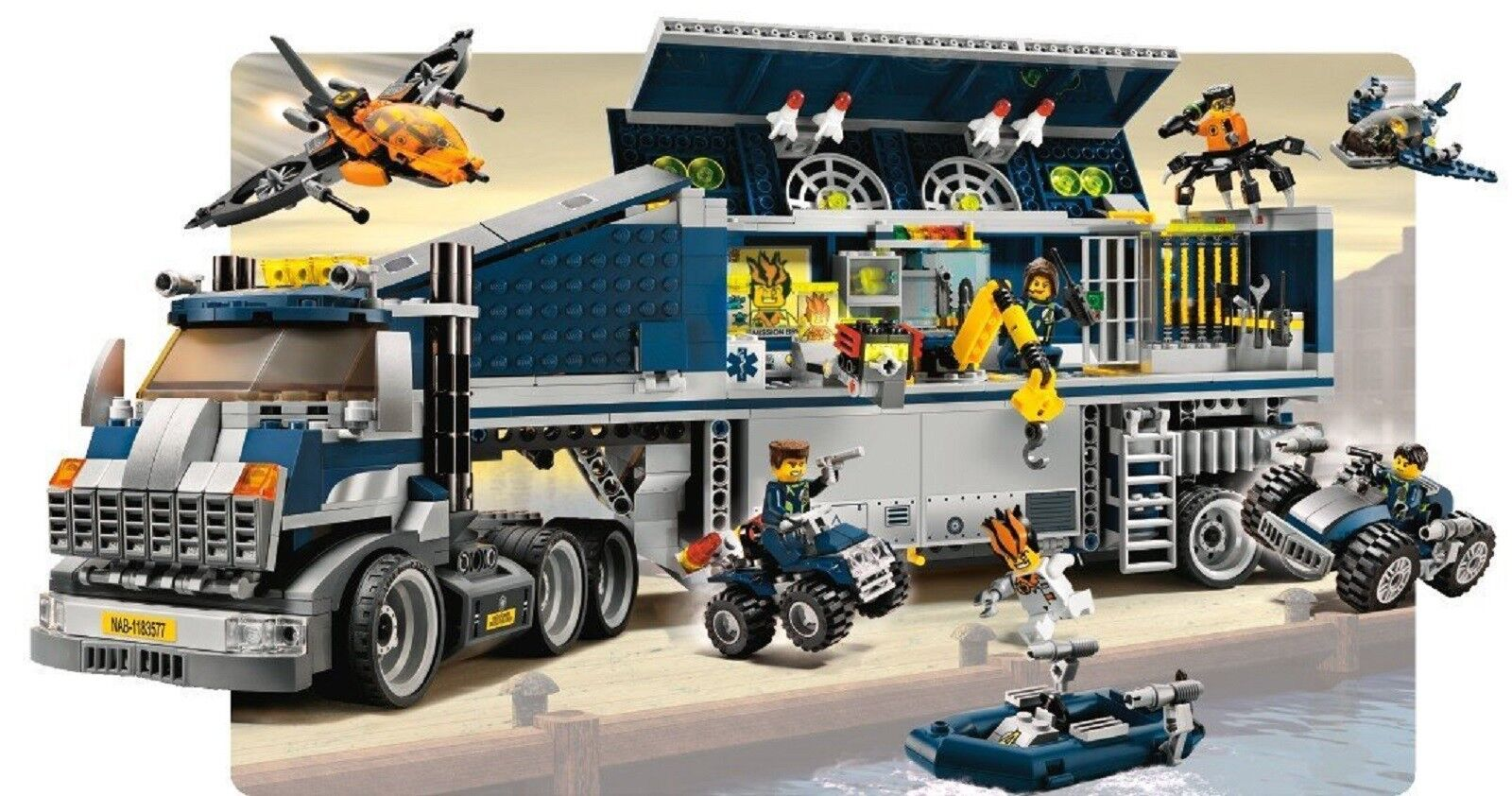 Lego 8635 Agents Mission 6 Mobile Command Centre + notice complet de 1992 CNG8