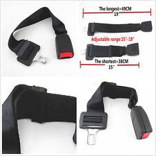 """Adjustable Seat Belt Buckle Extender: 15""""-19"""" FIT Car SUV Click-In Black-E4 Safe"""