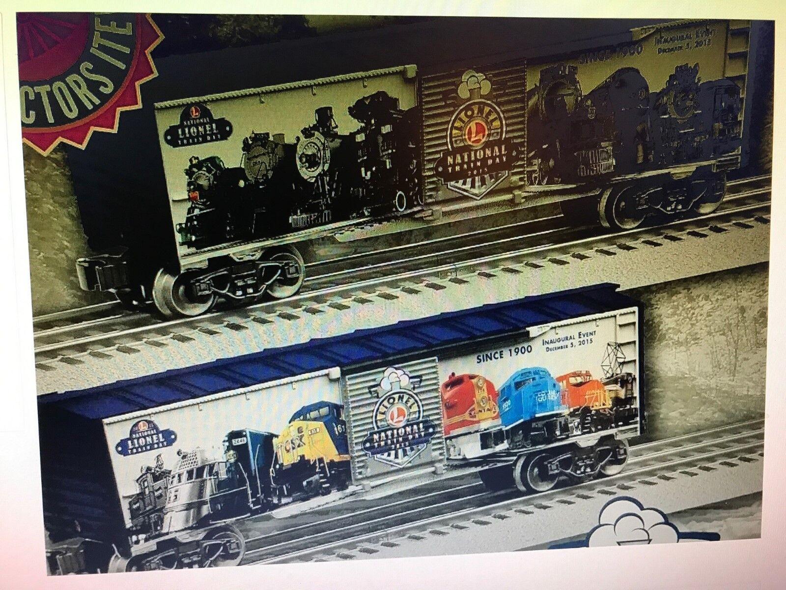 Tren Lionel Nacional día furgón  dos diferentes lados  serie de 1st Nuevo En Caja