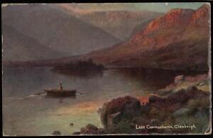 EARLY-1900-039-s-VINTAGE-POSTCARD-LAKE-COOMASHAREN-GLENBEIGH
