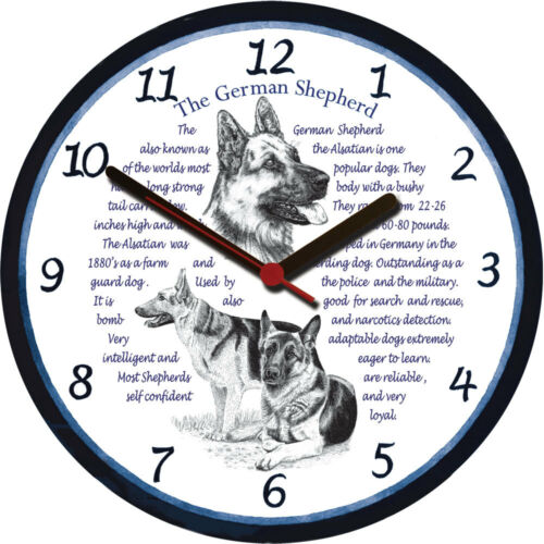 Dog Breed Origins Animal Facts German Shepherd Alsatian Large Wall Clock