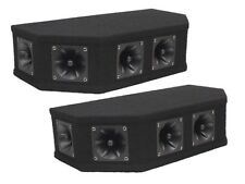 2 x Soundlab Tweeter Array 50W Black Piezo Top Box Speaker DJ Disco