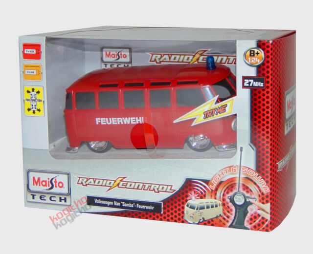 Maisto Tech RC vw bus emerency Vehicle Van Radio Controlled Fire Brigade 82091