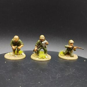 PRO PAINTED 28mm BOLT ACTION USMC 3 MAN HQ Team WARLORD GAMES ww2