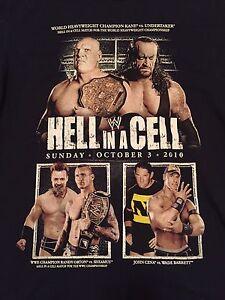 WWE Hell in a Cell 2010 T-Shirt Small Kane Undertaker John Cena Randy Orton NXT