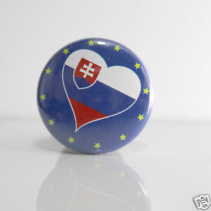 2-Badges-Europe-25mm-PIN-BACK-BUTTON-Slovaquie-Slovensko
