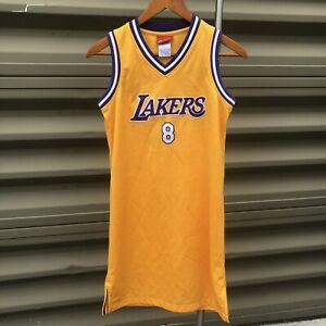 Details about Vintage Los Angeles Lakers Kobe Bryant #8 Reebok Stitched Jersey Dress Sz Small