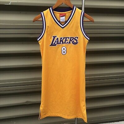 Vintage Los Angeles Lakers Kobe Bryant #8 Reebok Stitched Jersey Dress Sz Small | eBay