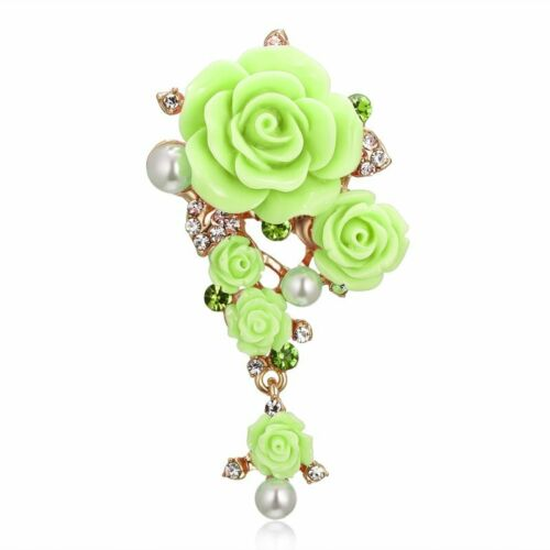 Fashion Cristal Strass Fleur Mariage Bridal Bouquet Brooch Pin Jewelry Gift