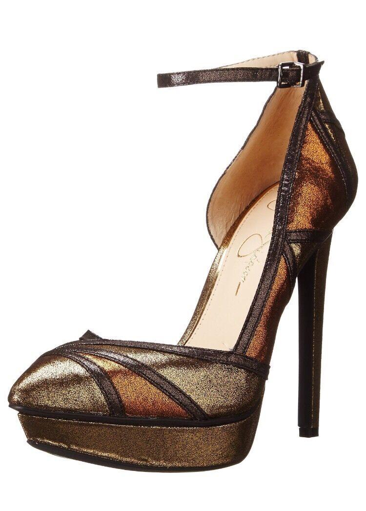 costo effettivo Jessica Simpson Vindie oro oro oro Combo Dusty Metallic Bronze Ankle Pump Platform 10 M  grande sconto