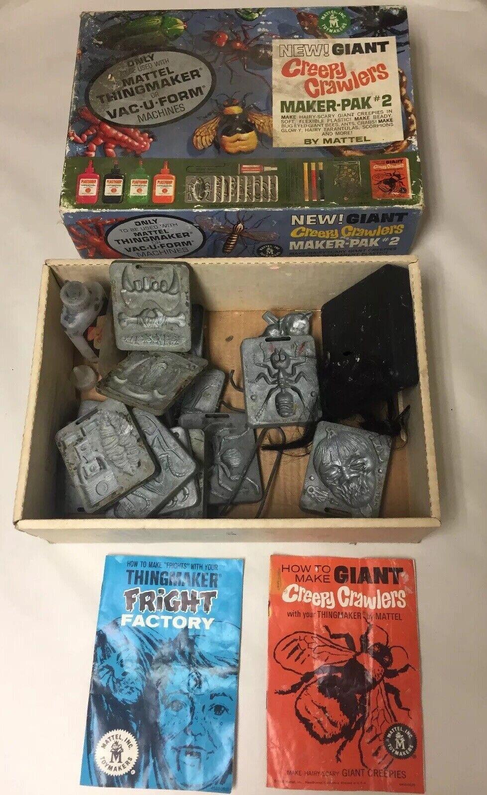 VINTAGE MATTEL 1960'S GIANT CREEPY CRAWLERS THINGMAKER MAKER-PAK
