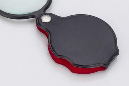 Pocket Mini 10X zoom Folding Jewelry Magnifier Magnifying Eye Glass Loupe Lens .