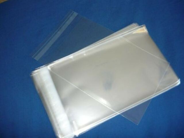 100 9x12 SELF SEAL FLAP TAPE CLEAR POLY BAGS POLYPROPYLENE OPP BAGS 1.5 MIL
