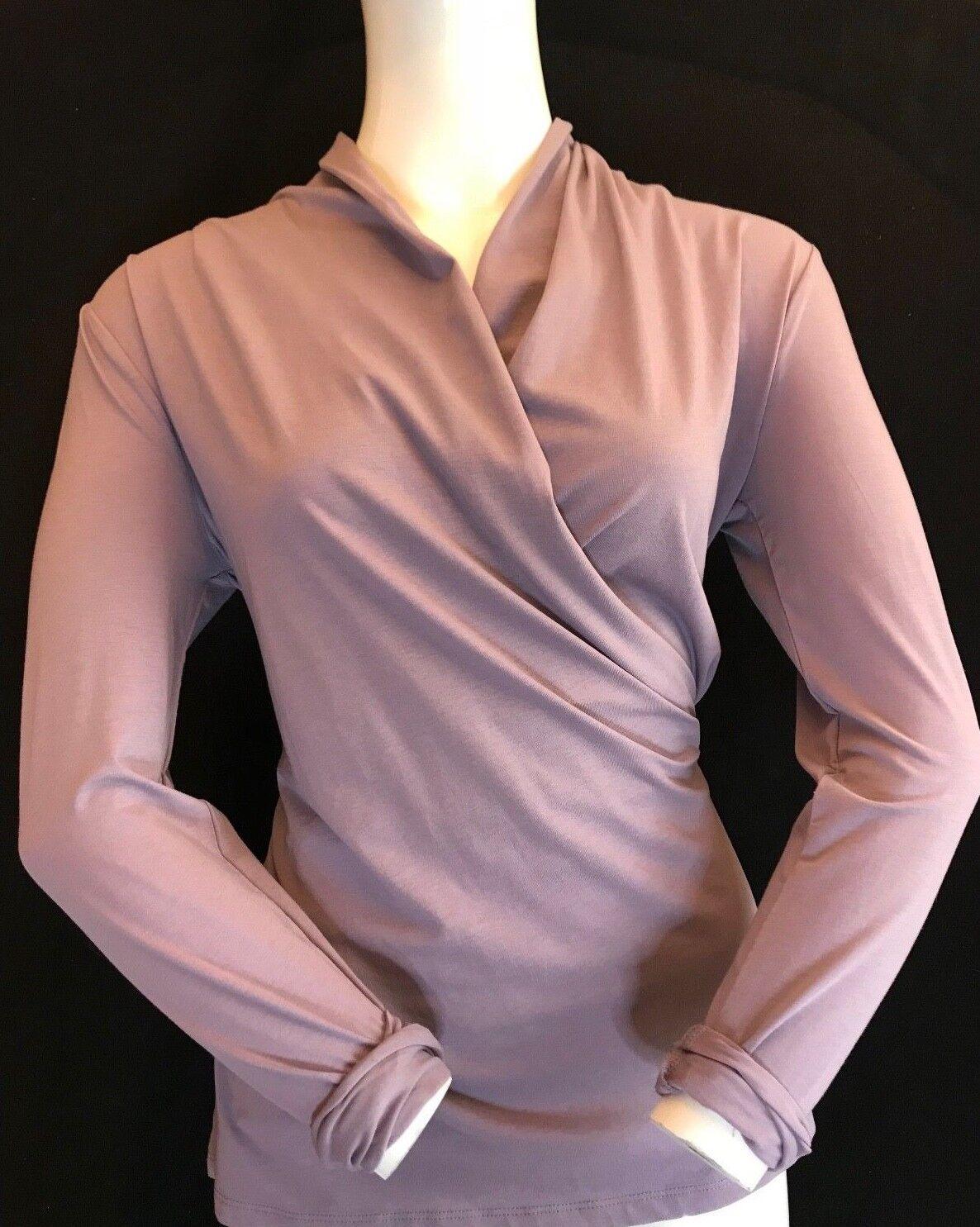 BNWT RALPH LAUREN LAVENDER FROST blousetop Cotone a Maniche Lunghe Taglia M Prezzo Consigliato