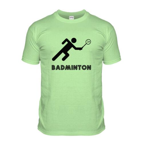 Badminton Retro Stick Man T-shirt Logo Sport Tshirt 2016 70s 80s Sports T Shirt