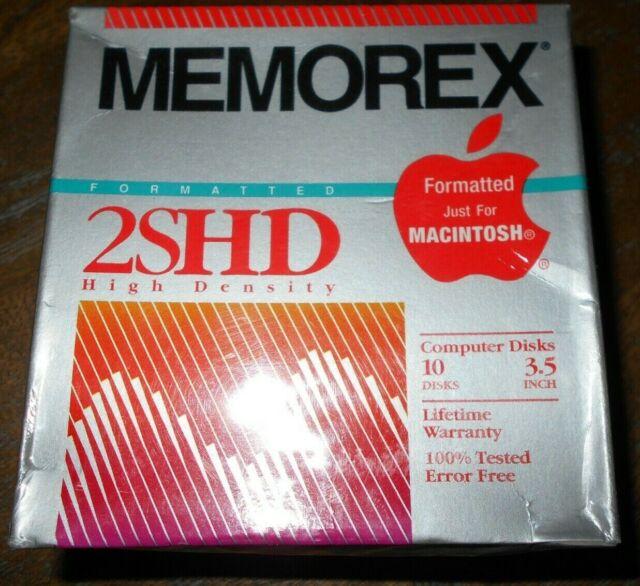 "BRAND NEW 3.5/"" Macintosh Mac Computer Disks HD High Density 10 Pack"
