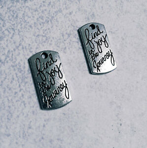 10 Word Charms Quote Charms Find Joy In The Journey Silver