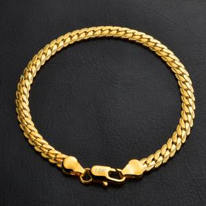 Fashion-18K-Gold-Plated-Bangle-Chain-Bracelet-Wristband-Jewelry-5MM