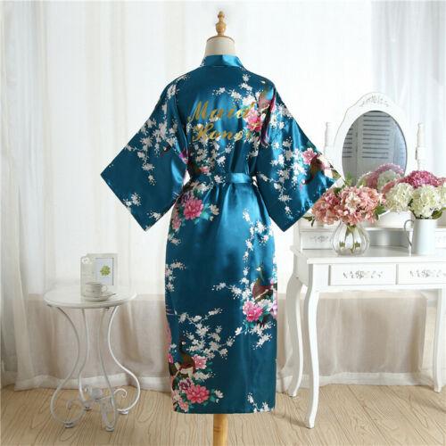 Personalised Dressing Gown Satin Bridesmaid maid of honor Wedding Robe Bride