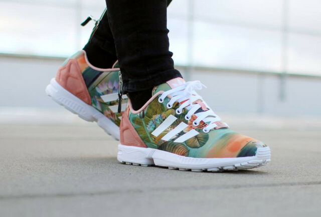adidas zx flux roses online