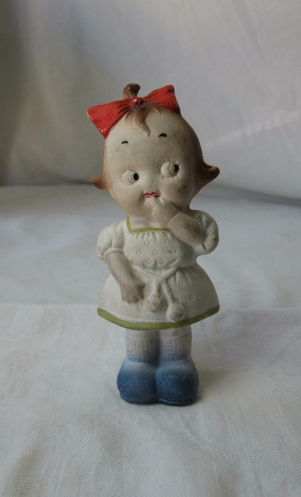Googly Eye Doll German Character Antique Miniature Bisque 1900 Germany Google
