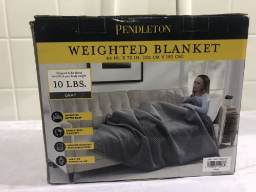 Pendleton NEW Weighted Blanket 10 Lb 48 X 72  Blue Relief Deep Sleep