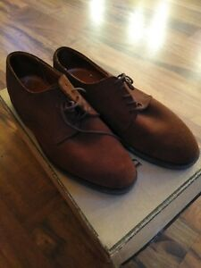 BANANA REPUBLIC MEN'S BROWN SUEDE LEATHER OXFORDS SIZE US 7.5 M