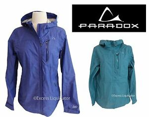 WOMENS PARADOX RAIN JACKET Lightweight Hooded NEW Opened