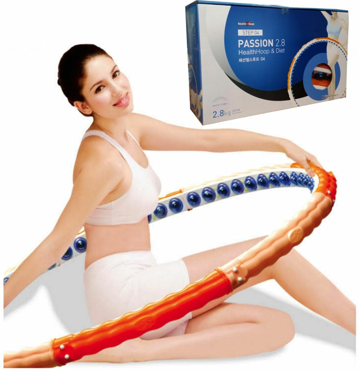 Health Hoop®-Message Passion Magnetic Weighted Hula Hoop fat burning 6.17lb