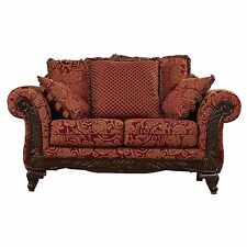 Couches And Loveseats Settee Red Sofa Antique Vintage Style Chair Furniture