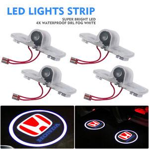 Logotipo-de-4X-LED-Luz-de-bienvenida-Puerta-Cortesia-Fantasma-Sombra-Proyector-Laser-Para-Honda