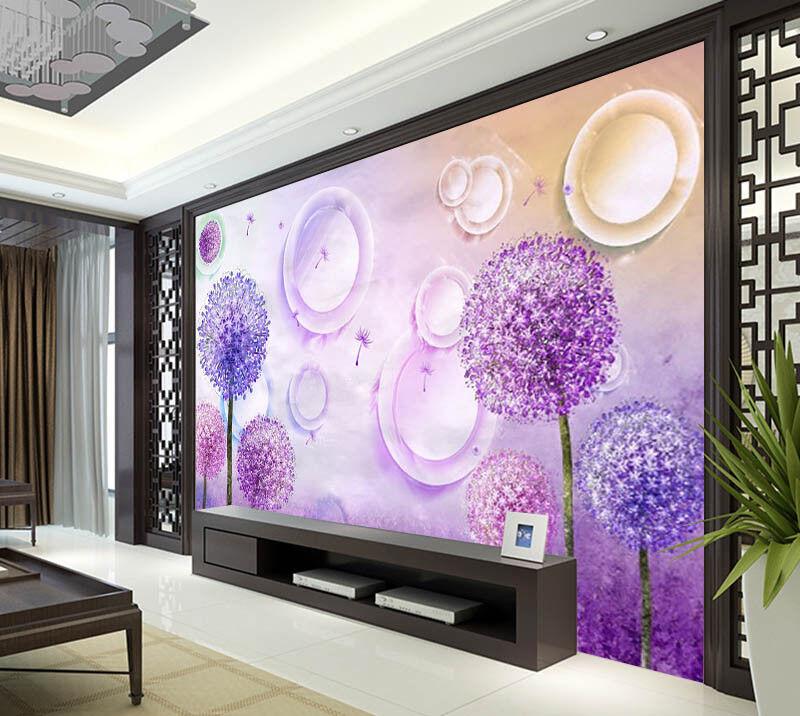 Dream Of Dandelion 3D Full Wall Mural Photo Wallpaper Printing Home Kids Decor