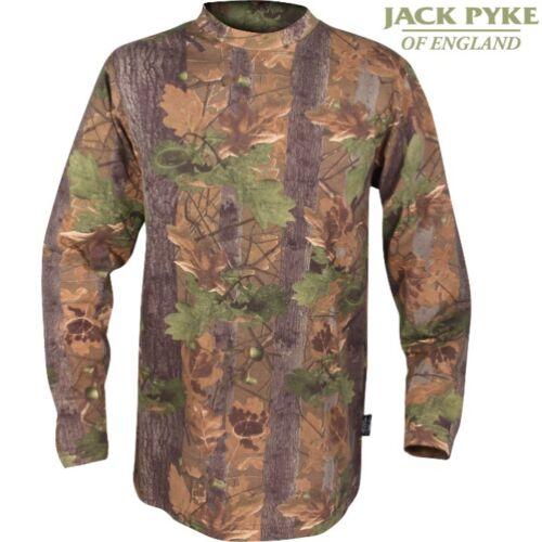 Jack Pyke Chêne Anglais T-shirt à manches longues homme S XL 100/% Coton Top CLEARANCE