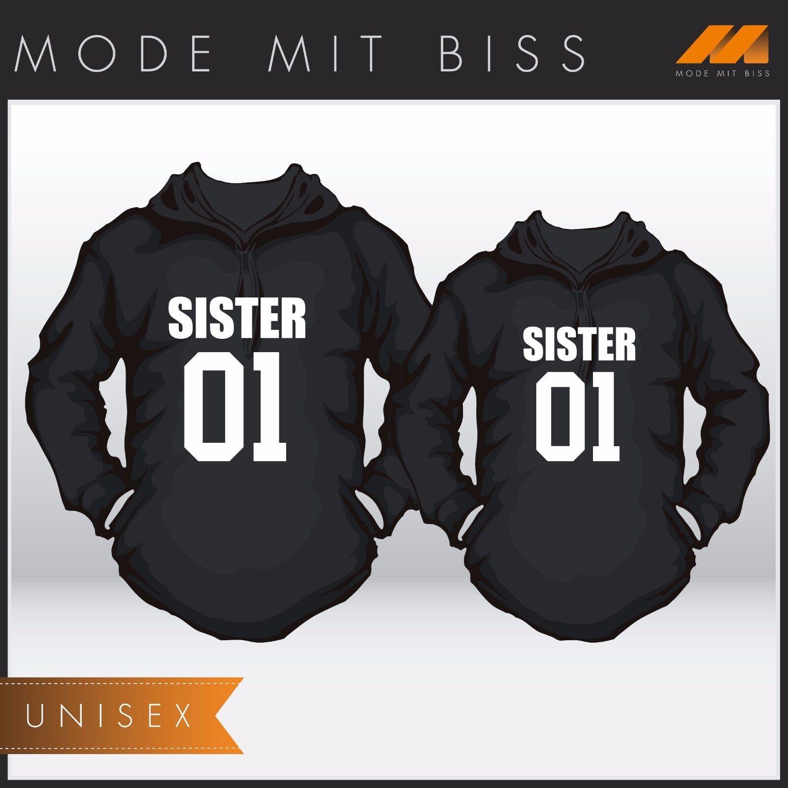 Hoody Set mit WUNSCHNUMMER  Sister & Sister