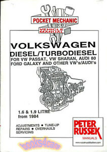 volkswagen diesel shop manual 1 6 1 9 engine service repair book rh ebay com service manual for sharp xe-a43s service manual for sharp xe-a43s