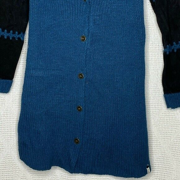 One Teaspoon Cardigan Sweater Suede Sleeves - image 7