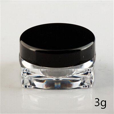 Cosmetic Empty Jar Pot Eyeshadow Makeup Face Cream Lip Balm Container Box ssa
