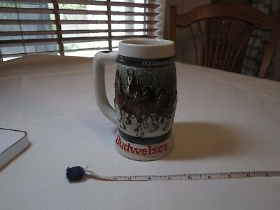 1982 1933-1983 50th Budweiser RARE Holiday Stein mug Christmas Clydesdale beer