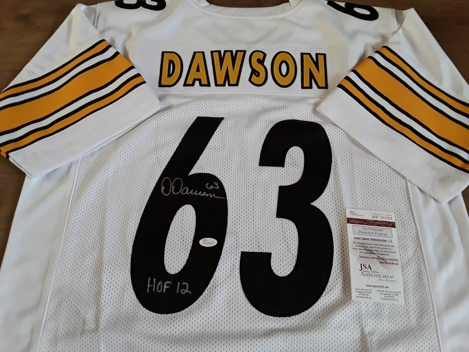 Pittsburgh Steelers HOF - Dawson Signed Jersey - NFL - JSA Authentic