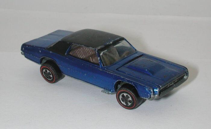 Rossoline Hotwheels blu 1968 Custom T Bird oc15023