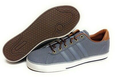 Mens Adidas Daily F97756 Grey NEO Canvas Ortholite Cushioned Sneakers Shoes   eBay
